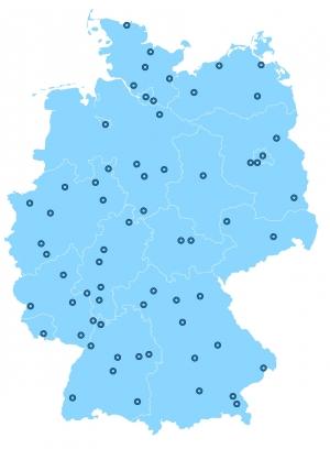 WELTbewusst Gruppen Deutschlandkarte 2015